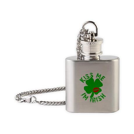 Kiss Me Im Irish St Patricks Day Flask Necklace