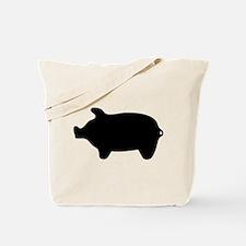 Pig Silhouette Tote Bag