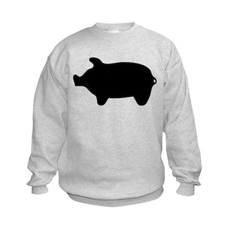 Pig Silhouette Kids Sweatshirt