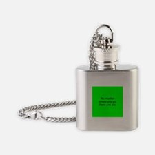 No Matter Where You Go Flask Necklace