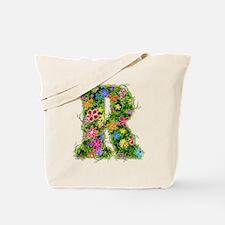 R Floral Tote Bag