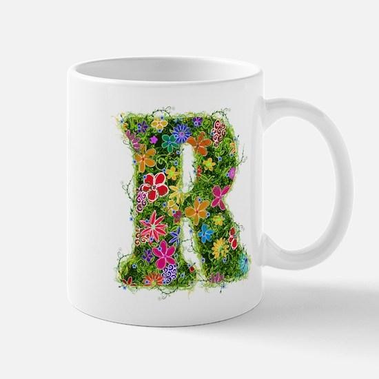 R Floral Mug
