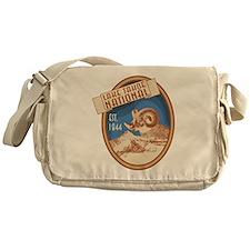 Lake Tahoe Blue Bighorn Badge Messenger Bag
