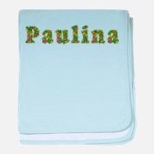 Paulina Floral baby blanket