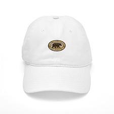 Lake Tahoe Brown Bear Badge Baseball Cap