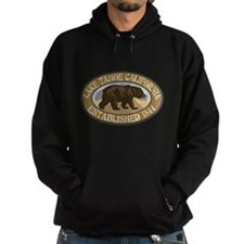 Lake Tahoe Brown Bear Badge Hoodie