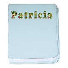 Patricia Floral baby blanket