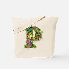 P Floral Tote Bag
