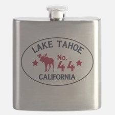 Lake Tahoe Moose Badge Flask