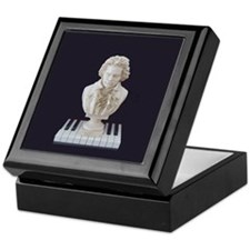Beethoven Bust on Piano Keys Keepsake Box