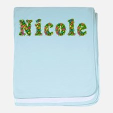 Nicole Floral baby blanket