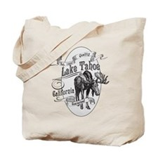 Lake Tahoe Vintage Moose Tote Bag