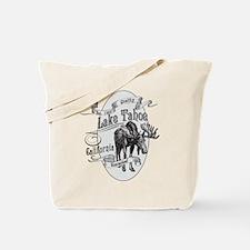 Lake Tahoe Vintage Moose Tote Bag