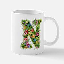 N Floral Mug