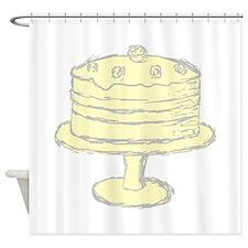 Yellow Cake. Shower Curtain