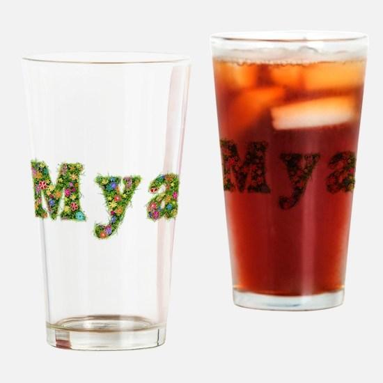 Mya Floral Drinking Glass