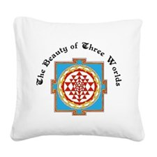 Three Worlds Square Canvas Pillow