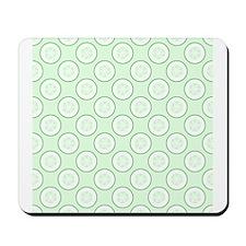 Cucumber Slice Pattern. Mousepad