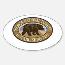 Sierra Brown Bear Badge Decal