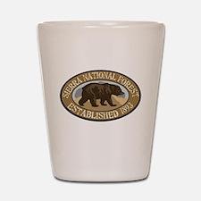 Sierra Brown Bear Badge Shot Glass