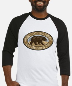 Sierra Brown Bear Badge Baseball Jersey