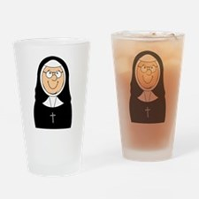 Nun Drinking Glass