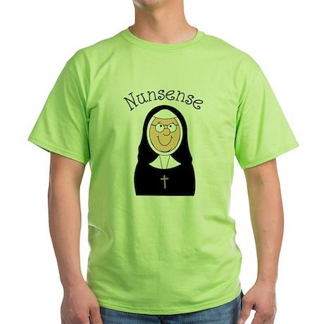Nunsense Green T-Shirt