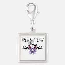 Wicked Cool Mom Silver Square Charm