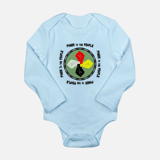 Power to the People Long Sleeve Infant Bodysuit