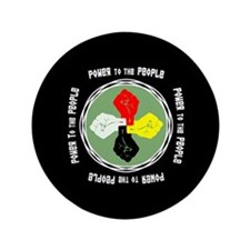 """Power to the People 3.5"""" Button"""