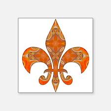 """Royalty Fleur De Lys Square Sticker 3"""" x 3"""""""