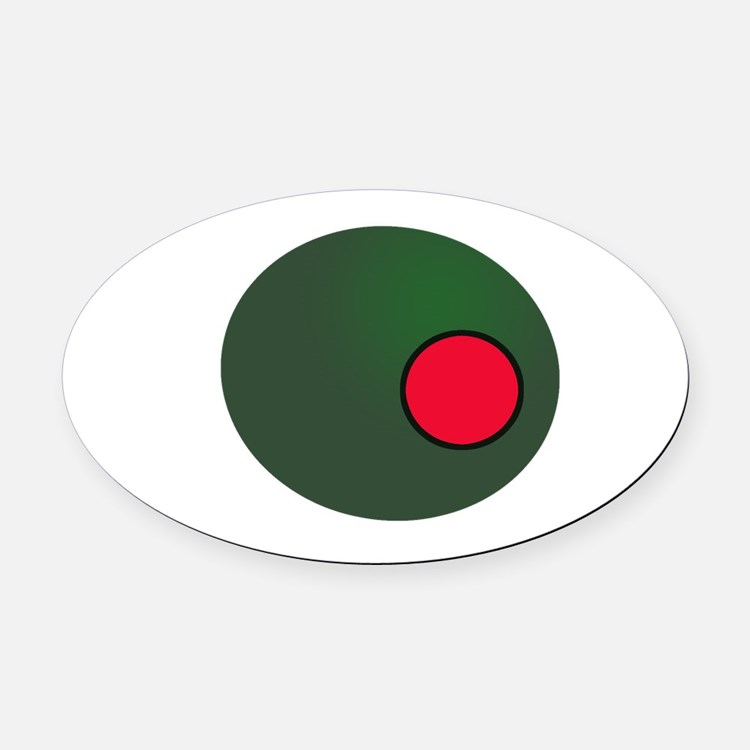 Olive Oval Car Magnet