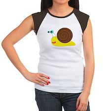 Cartoon Snail Women's Cap Sleeve T-Shirt
