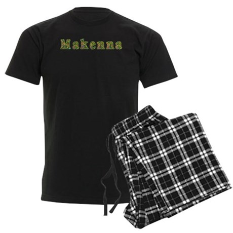 Makenna Floral Men's Dark Pajamas