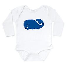 Blue Whale Long Sleeve Infant Bodysuit