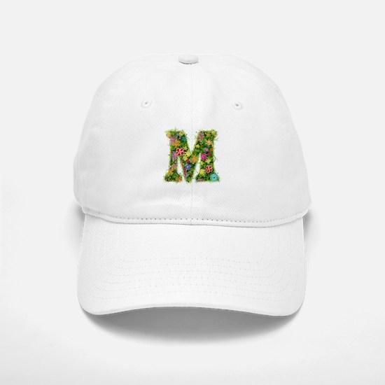 M Floral Baseball Baseball Cap