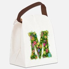 M Floral Canvas Lunch Bag