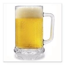 "Beer Mug Square Car Magnet 3"" x 3"""