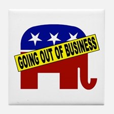 Going Out of Business Repubs Tile Coaster