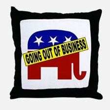 Going Out of Business Repubs Throw Pillow
