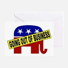 Going Out of Business Repubs Greeting Card