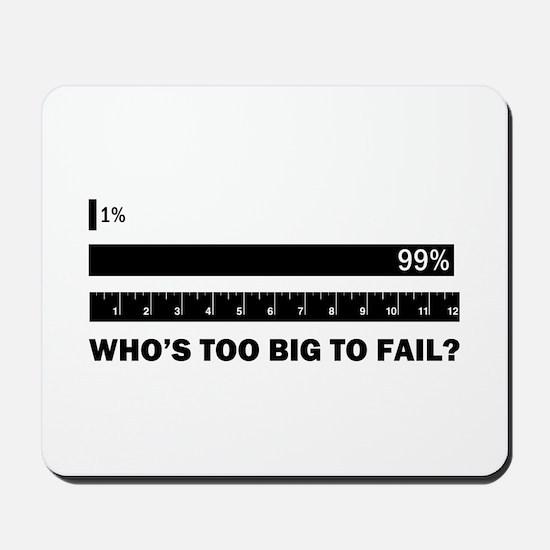 Who's Too Big to Fail Mousepad