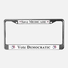 Save Medicare Democratic License Plate Frame