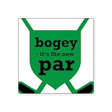 "Golf Square Sticker 3"" x 3"""