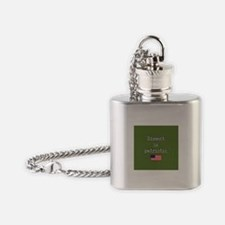 Dissent Is Patriotic Flask Necklace