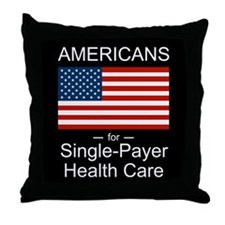 Americans Single Payer Health Throw Pillow