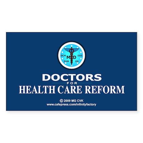 Doctors Health Care Reform Rectangle Sticker 50 p