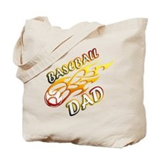 Baseball Dad (flame) copy.png Tote Bag