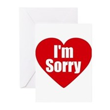 Cute Sorry Greeting Cards (Pk of 10)