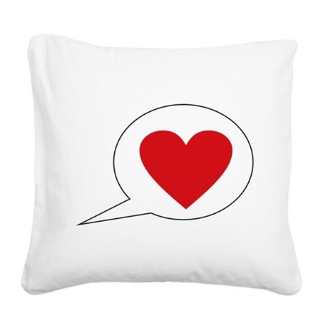 love Square Canvas Pillow